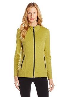 Jones New York Women's Zip Front Jacket Yellow