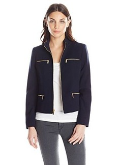 Jones New York Women's Zipper Detail Jacket