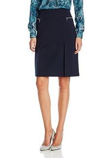 Jones New York Women's Zipper Pocket A-Line Skirt