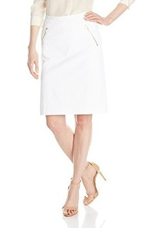 Jones New York Women's Zipper Trim A-Line Skirt