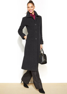 Jones New York Petite Wool-Blend Maxi Walker Coat
