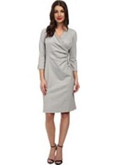 Jones New York Wrap Front Zipper Dress