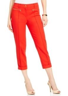 Jones New York Zip-Pocket Cropped Capri Pants
