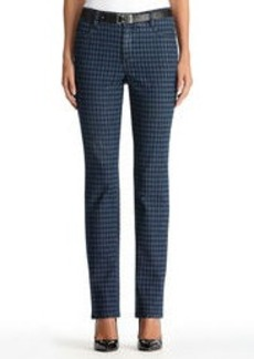 Lexington Straight Leg Houndstooth Jeans
