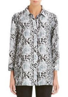 Linen A-Line Shirt (Plus)