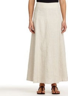 Linen-Blend Maxi Skirt
