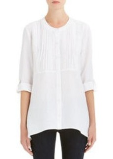 Linen Pleated Shirt (Petite)