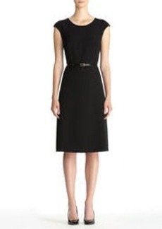 Little Black Dress with Cap Sleeves