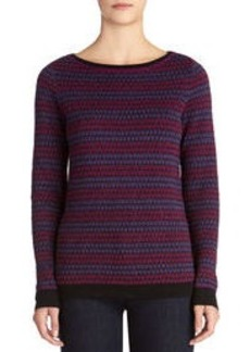 Long Sleeve Boat Neck Pullover Sweater