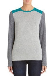 Long Sleeve Colorblock Crew Neck Sweater