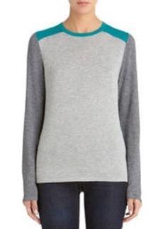 Long Sleeve Colorblock Crew Neck Sweater