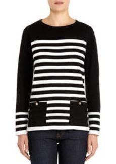 Long Sleeve Cotton Crew Neck Sweater