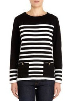 Long Sleeve Cotton Crew Neck Sweater
