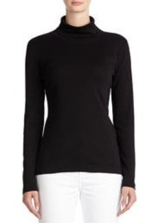 Long Sleeve Cotton Turtleneck (Plus)