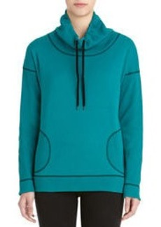 Long Sleeve Cowl Neck Pullover (Plus)