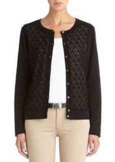 Long Sleeve Crew Neck Cardigan