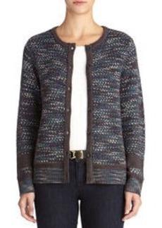 Long Sleeve Crew Neck Sweater Jacket