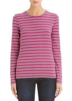 Long Sleeve Crew Neck Tee Shirt (Petite)