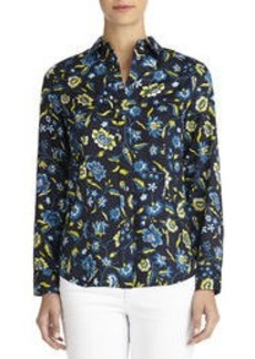 Long Sleeve Fitted Cotton Shirt (Plus)