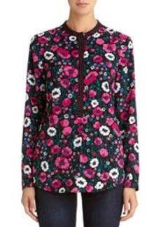 Long Sleeve Floral Blouse (Plus)