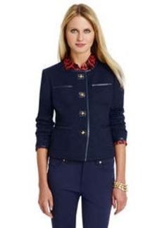 Long Sleeve Jacket with Patch Pocket Detail (Petite)