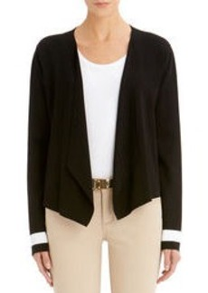 Long-Sleeve Open Front Cardigan