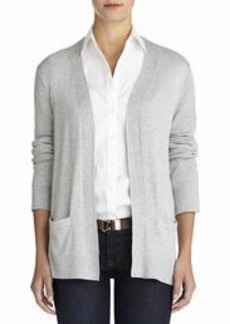 Long Sleeve Open Front Cardigan (Plus)