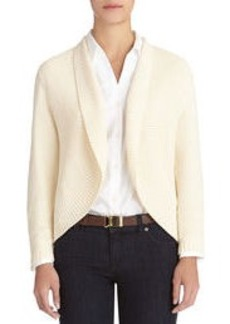 Long Sleeve Open Front Cardigan Sweater (Petite)