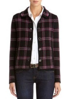 Long Sleeve Plaid Cardigan Sweater