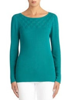 Long Sleeve Pullover Sweater (Petite)