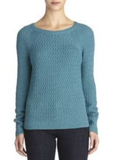 Long Sleeve Pullover Sweater with Raglan Sleeves