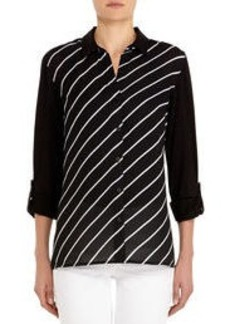 Long Sleeve Shirt with Roll Tabs