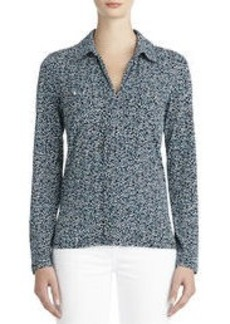 Long Sleeve Shirt with Split Collar (Plus)