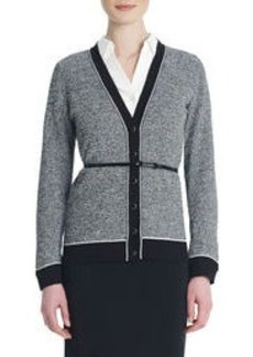 Long-Sleeve Tipped Cardigan (Petite)