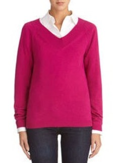 Long Sleeve V-Neck Pullover Sweater