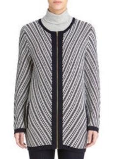 Long Sleeve Zip Front Cardigan