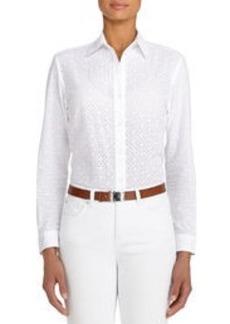 Mixed Media Cotton Shirt (Petite)