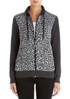 Mock Neck Leopard Print Jacket (Petite)