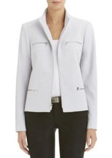 Moto Blazer with Zipper Detail