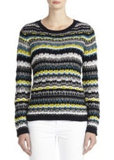 Multi-Striped Pullover Sweater (Petite)