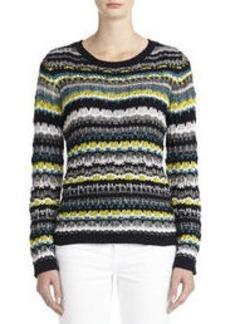 Multi-Striped Pullover Sweater (Petite)