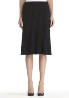 Navy Blue Pleated Pull-On Skirt