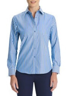 No-Iron Easy Care Relaxed Fit Striped Shirt (Petite)