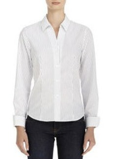 Non-Iron Easy-Care Fitted Cotton Shirt