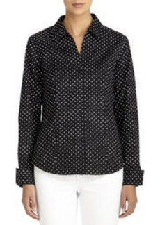 Non-Iron Easy-Care Fitted Cotton Shirt (Plus)