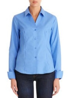 Non-Iron Easy-Care Fitted Long Sleeve Shirt