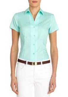 Non-Iron Easy-Care Fitted Short Sleeve Shirt