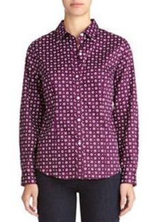 Non-Iron Easy-Care Long Sleeve Cotton Shirt