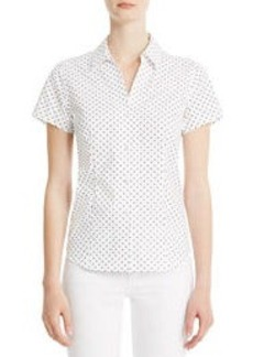 Non-Iron Easy-Care Printed Short Sleeve Shirt