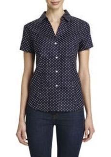 Non-Iron Easy-Care Printed Short Sleeve Shirt
